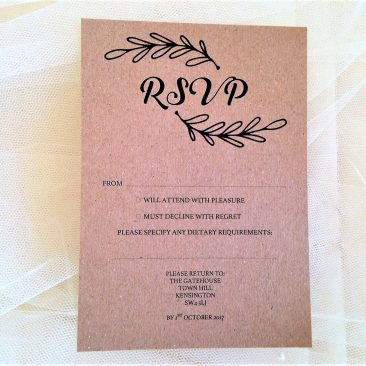 Wreath RSVP Cards