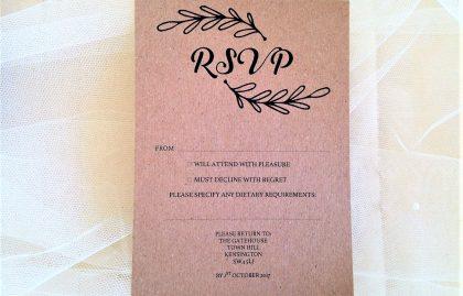 Wreath RSVP Cards