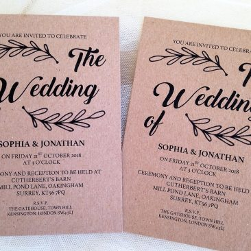 Wreath Wedding Invitations