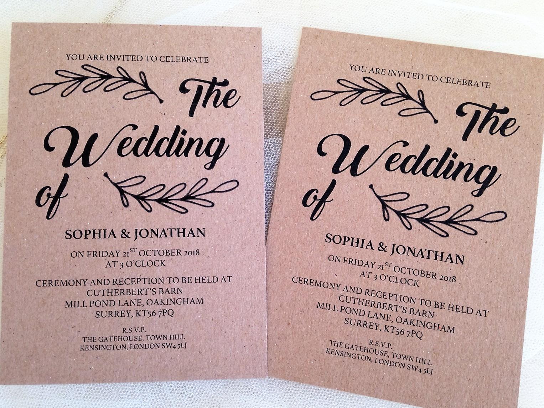 Wreath Wedding Invitations Wedding Invites