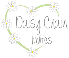 Wedding invitations and wedding stationary from Daisy Chain Invites - logo
