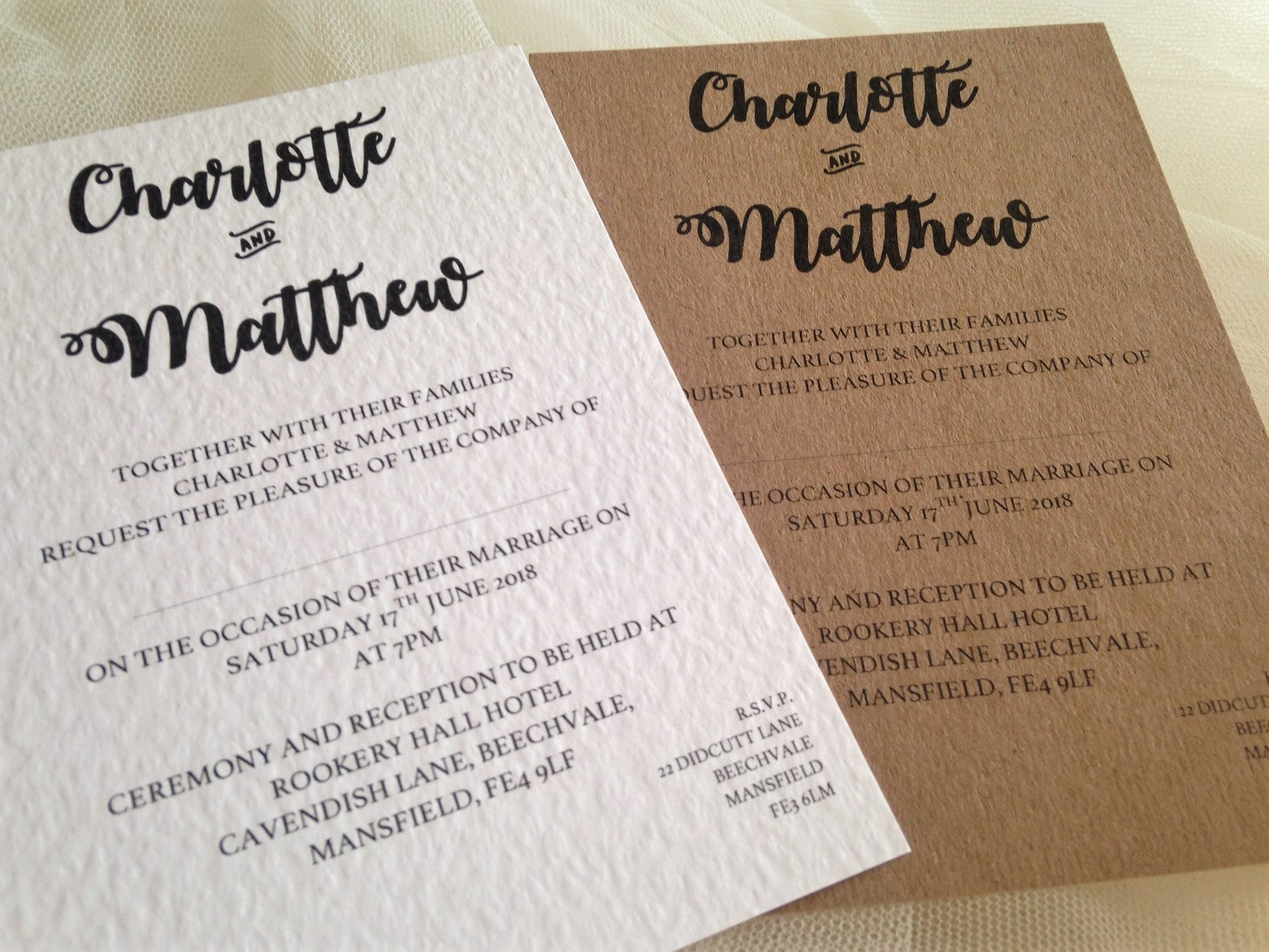Names Wedding Invitations