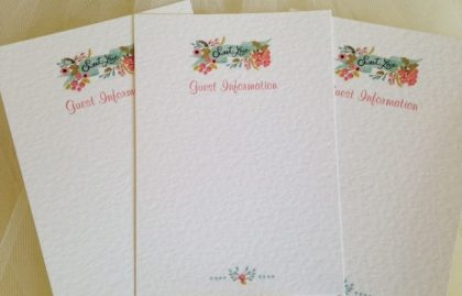 DIY Guest Information Cards – Sweet Love
