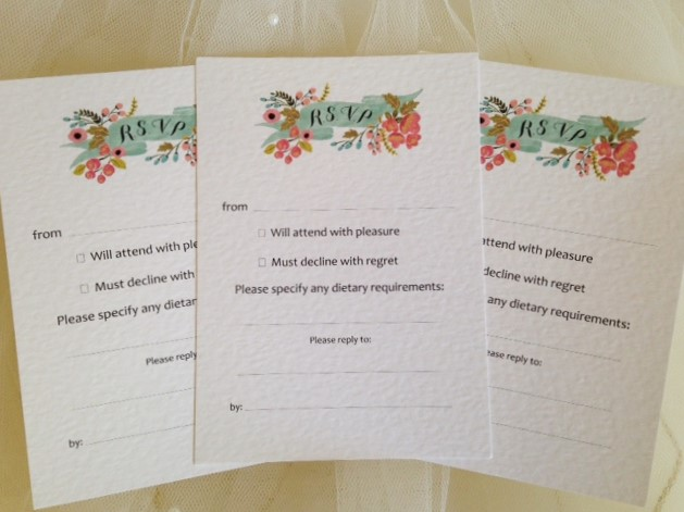 DIY RSVP Cards - Sweet Love