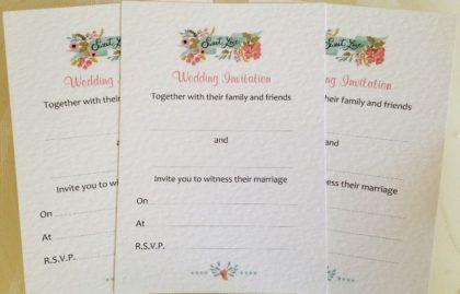 Blank Wedding Invitations and Envelopes - Sweet Love