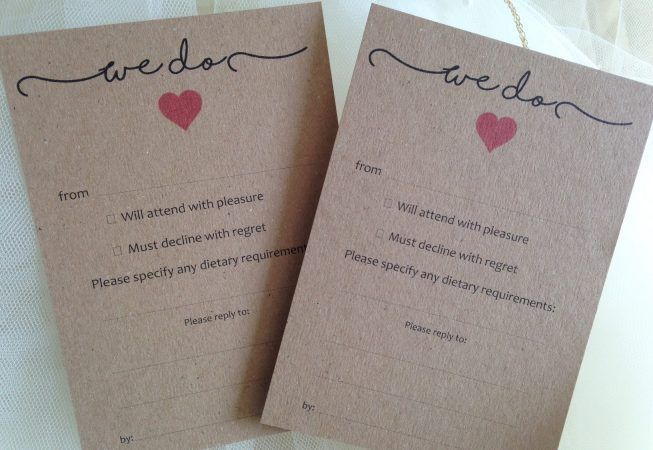 "Rustic RSVP Cards - ""We Do"""