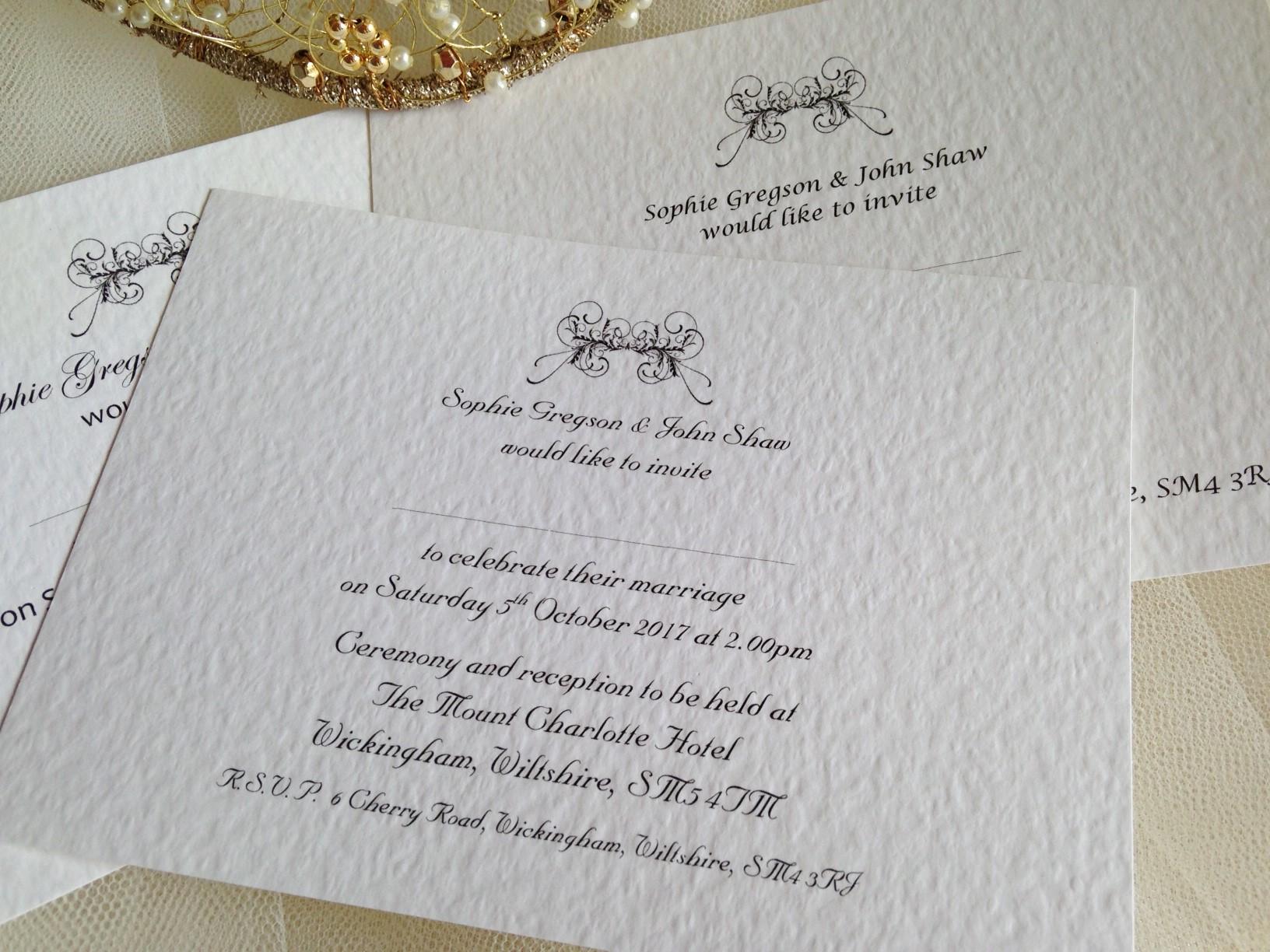 Wedding invitations under 1 Daisy Chain Invites – Art Deco Wedding Invitations Uk