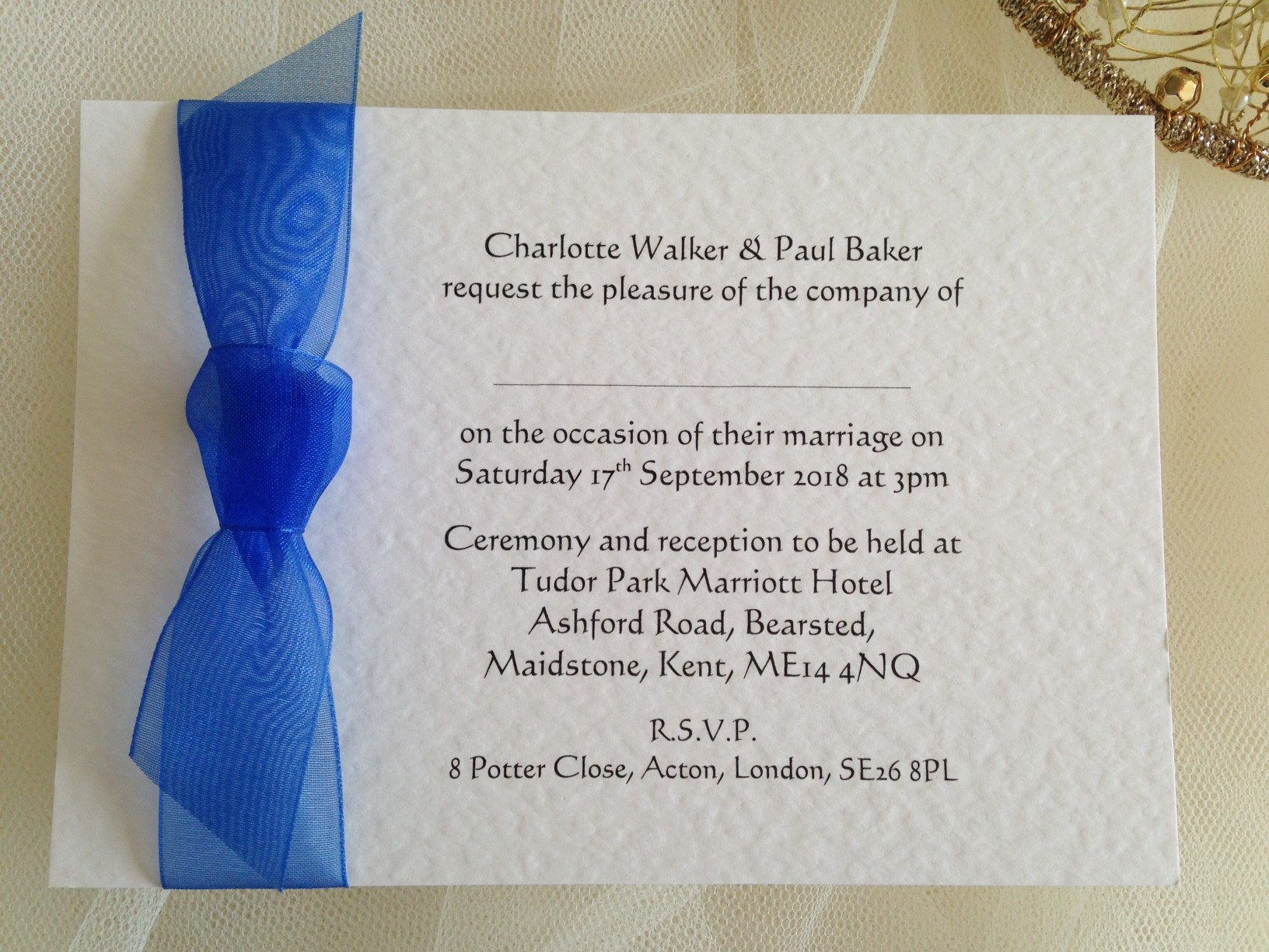 Beau Wedding Invitations Under £1