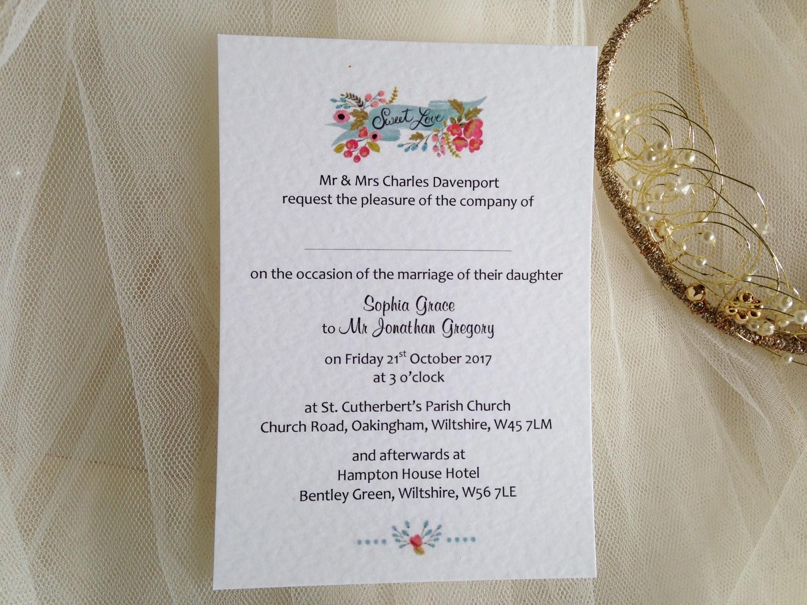 Merveilleux ... Wedding Invitations Under £1