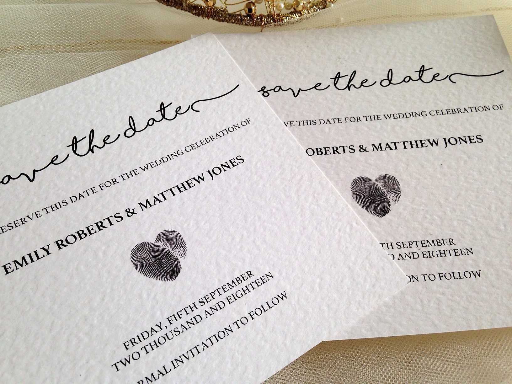 Perfect Match Save The Date Cards | Wedding Stationery