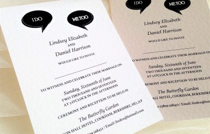 I Do, Me Too Wedding Invitations