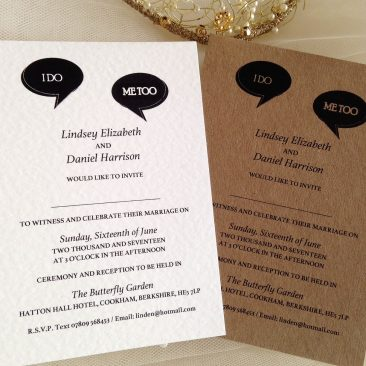 I Do, Me Too Wedding Invitations