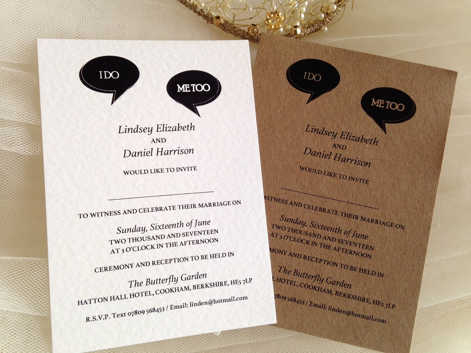 I Do Me Too Wedding Invitations