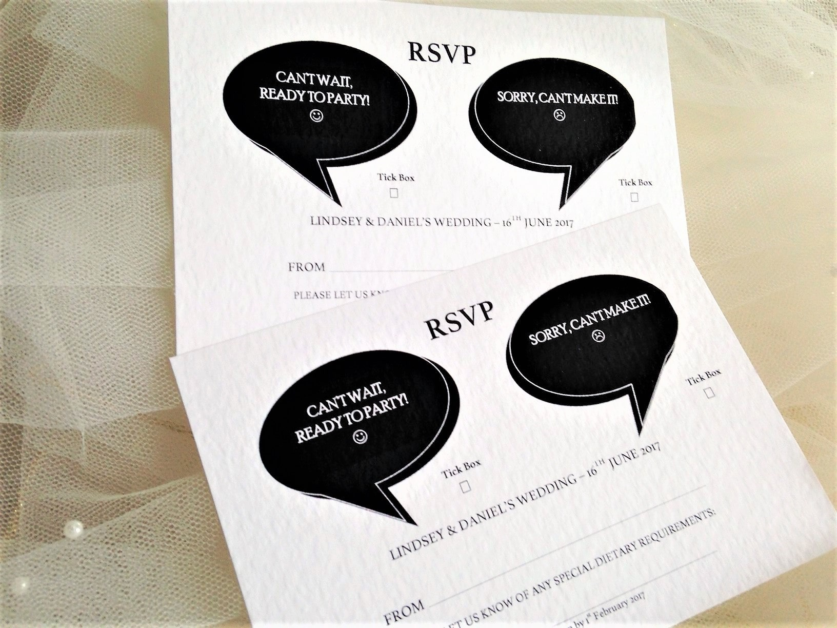 I Do, Me Too RSVP Postcards