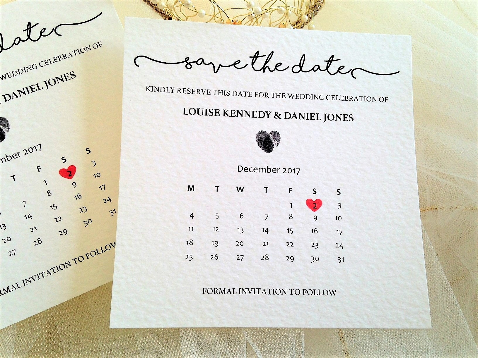 Calendar Save The Date Cards