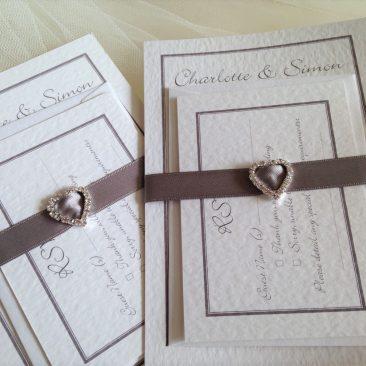 Rhinestone Buckle Wedding Stationery Bundle