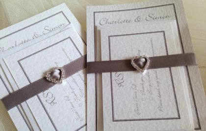 Rhinestone Buckle Wedding Stationery Bundle