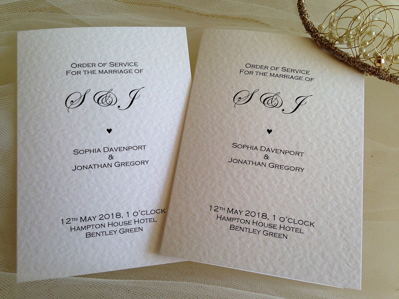 Oxford Wedding Order of Service Books | Stationery