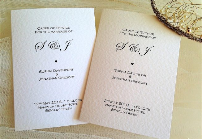 Oxford Wedding Order of Service Books
