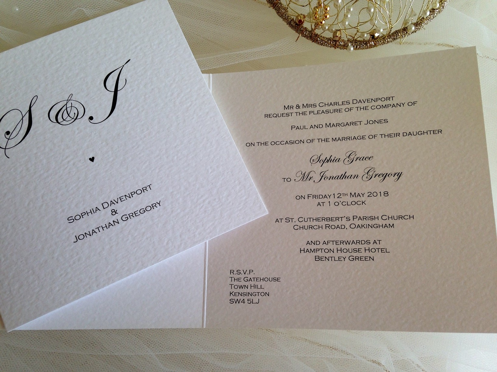 Wedding Invitations England: Oxford Wedding Invitations
