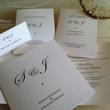 New Wedding Stationery Range