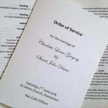 Order of Service Wedding Template
