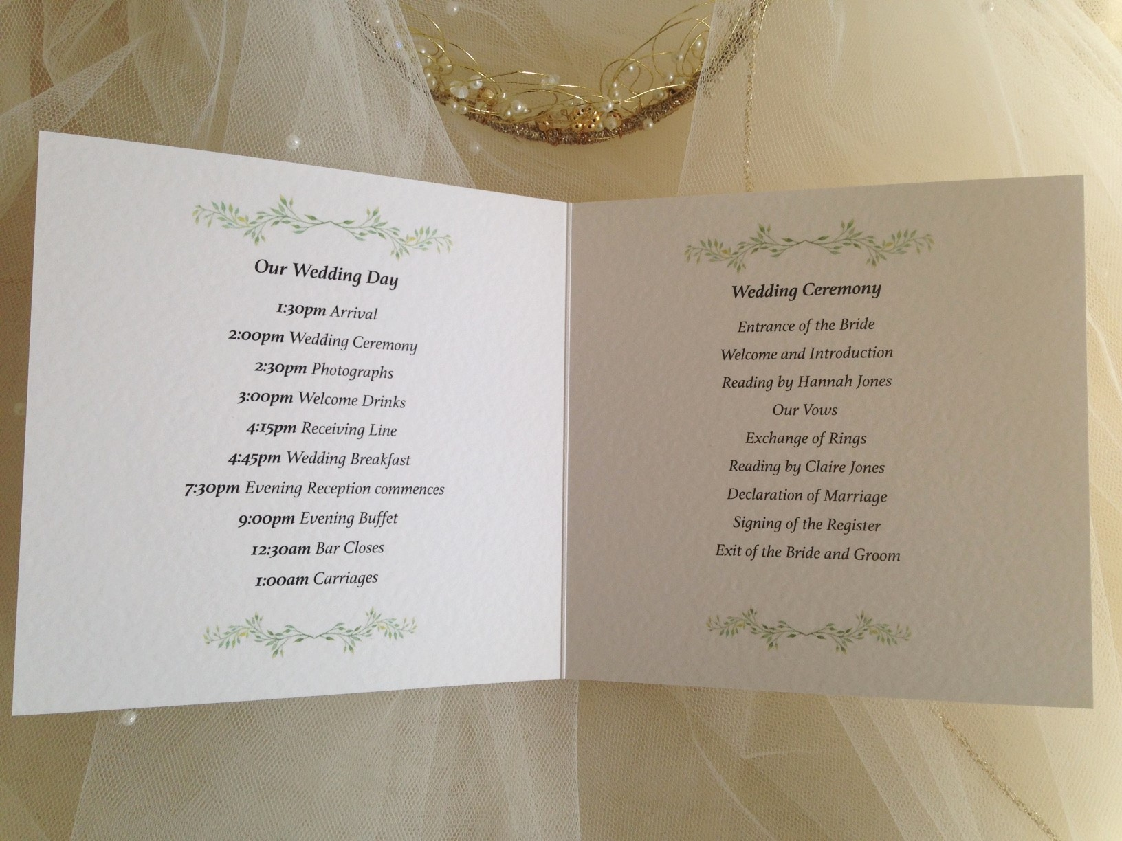 wedding blessing order of service template - order of service wedding template daisy chain invites