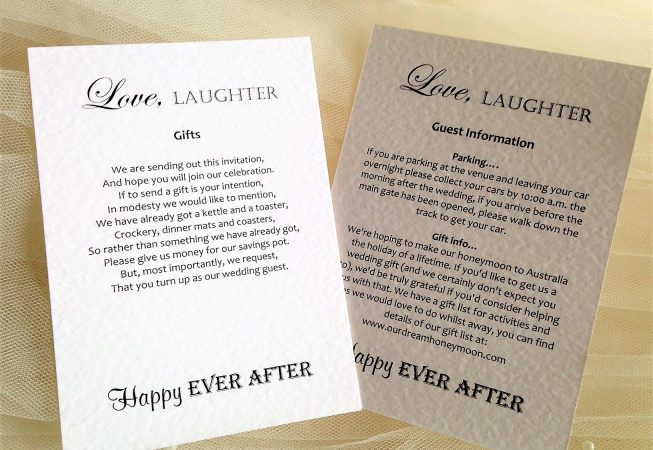 Love Laughter Additional Information Card