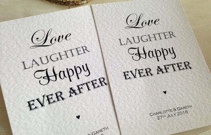 A6 Postcard Single Sided Wedding Invitations