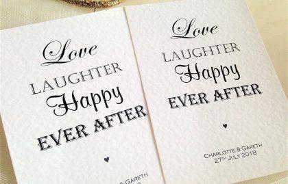 Love Laughter Postcard Wedding Invitations
