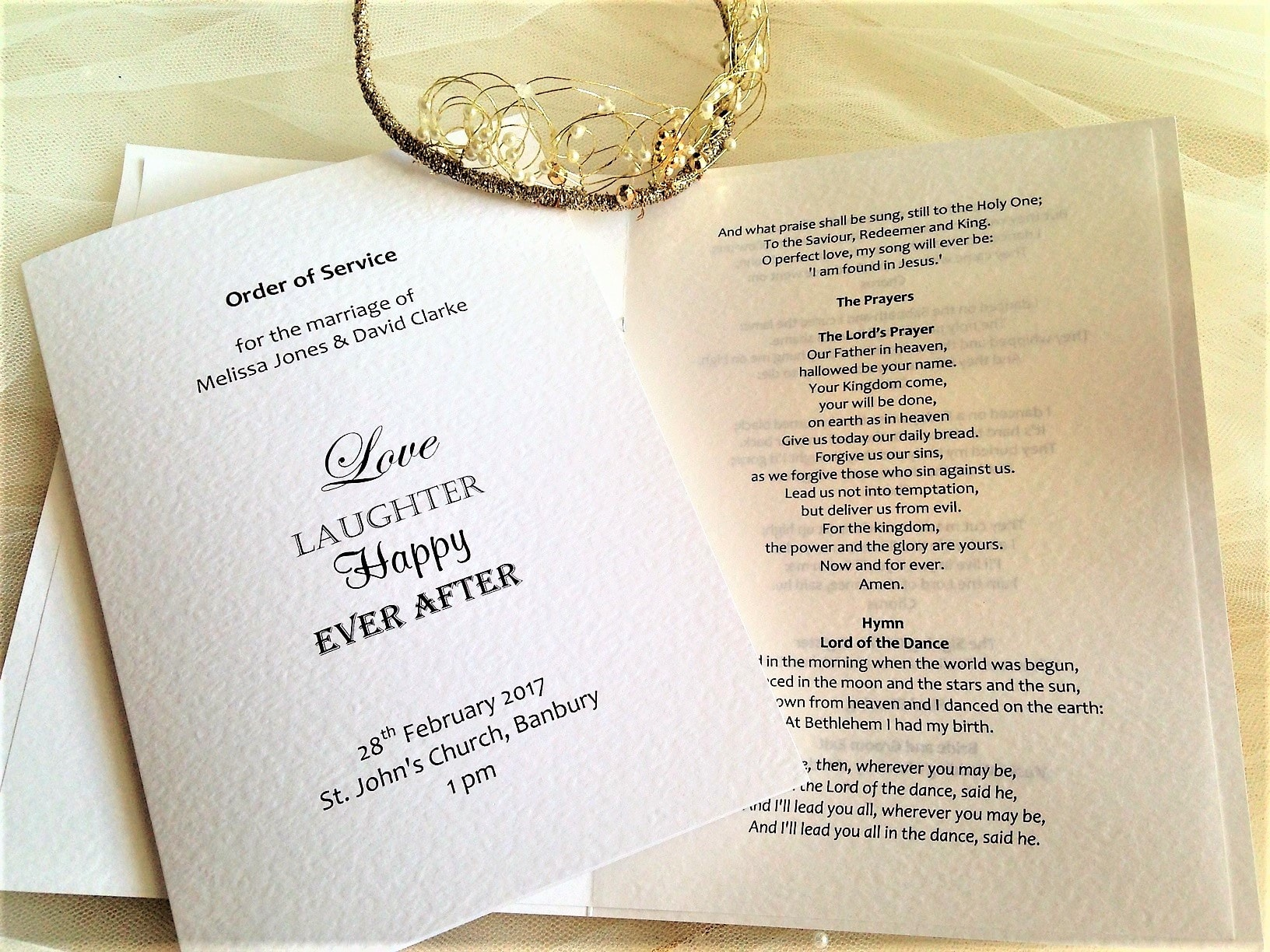 Love Laughter Wedding Order of Service Books