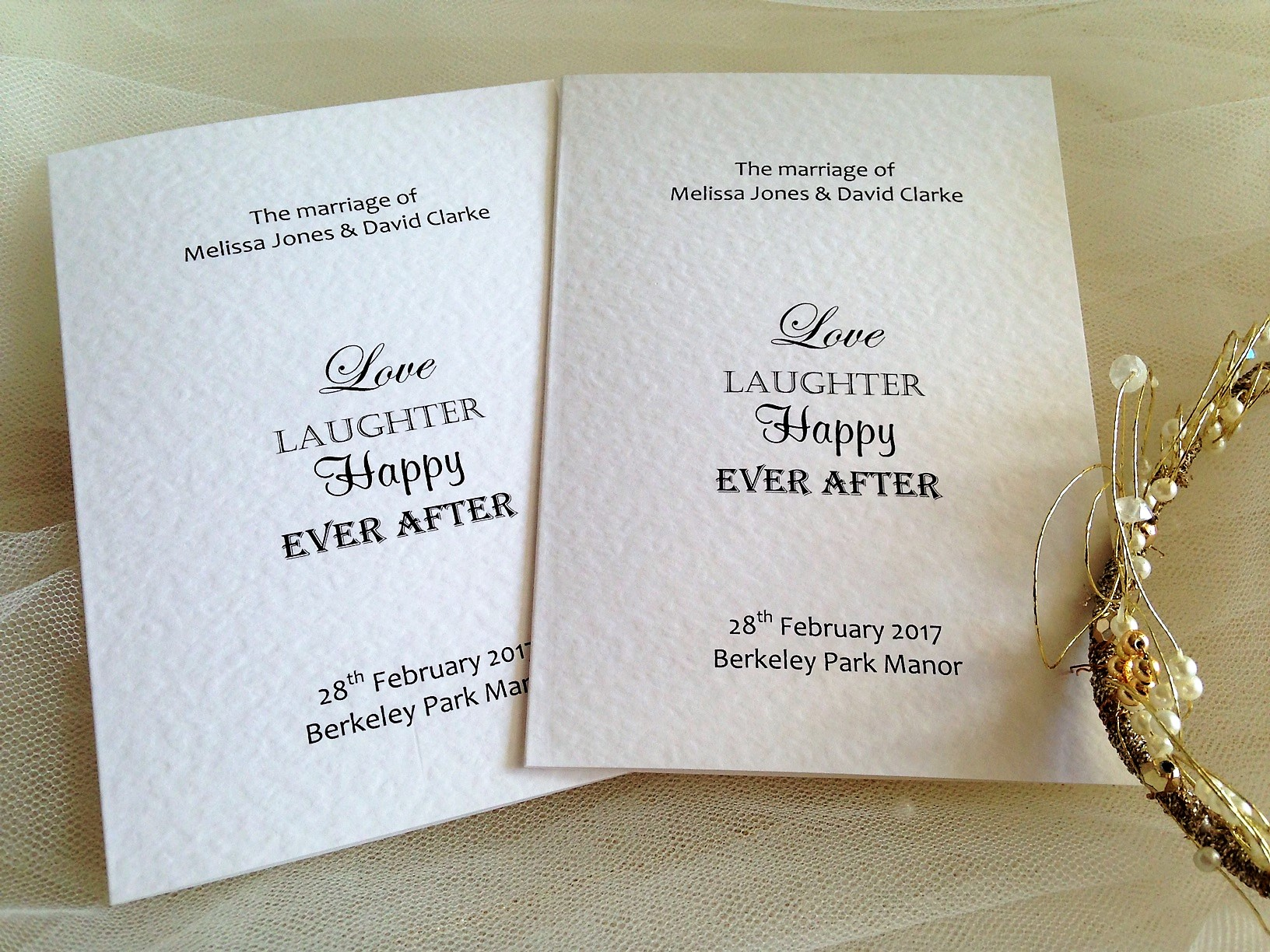 Small Love Laughter Order of Service Books