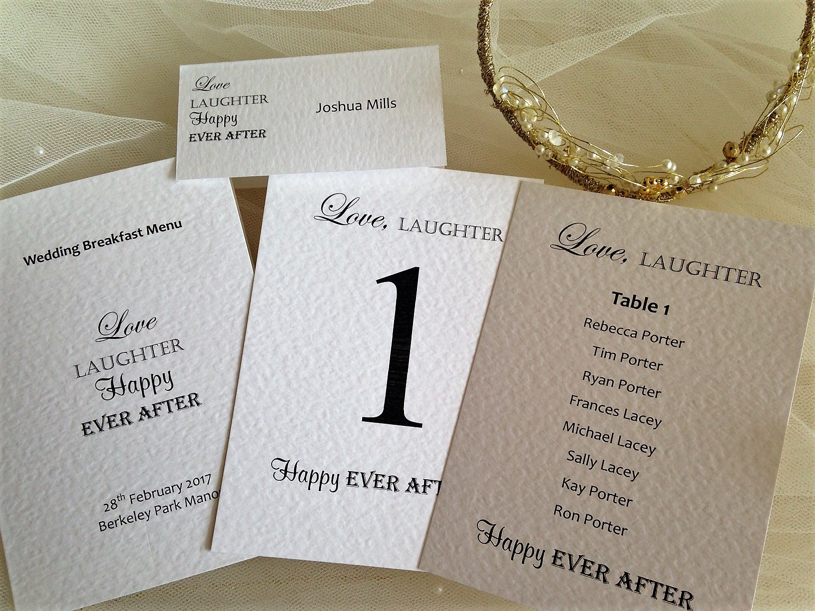 Love Laughter Reception Stationery