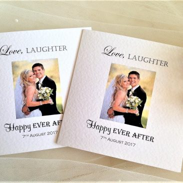Square Centre Fold Photo Thank You Cards