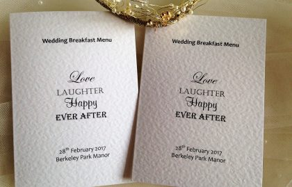 Love Laughter Menu Books – Small A6