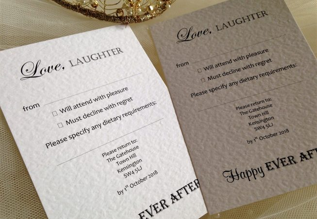 Love Laughter RSVP Postcards