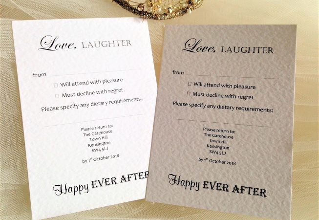 Love Laughter RSVP Postcards