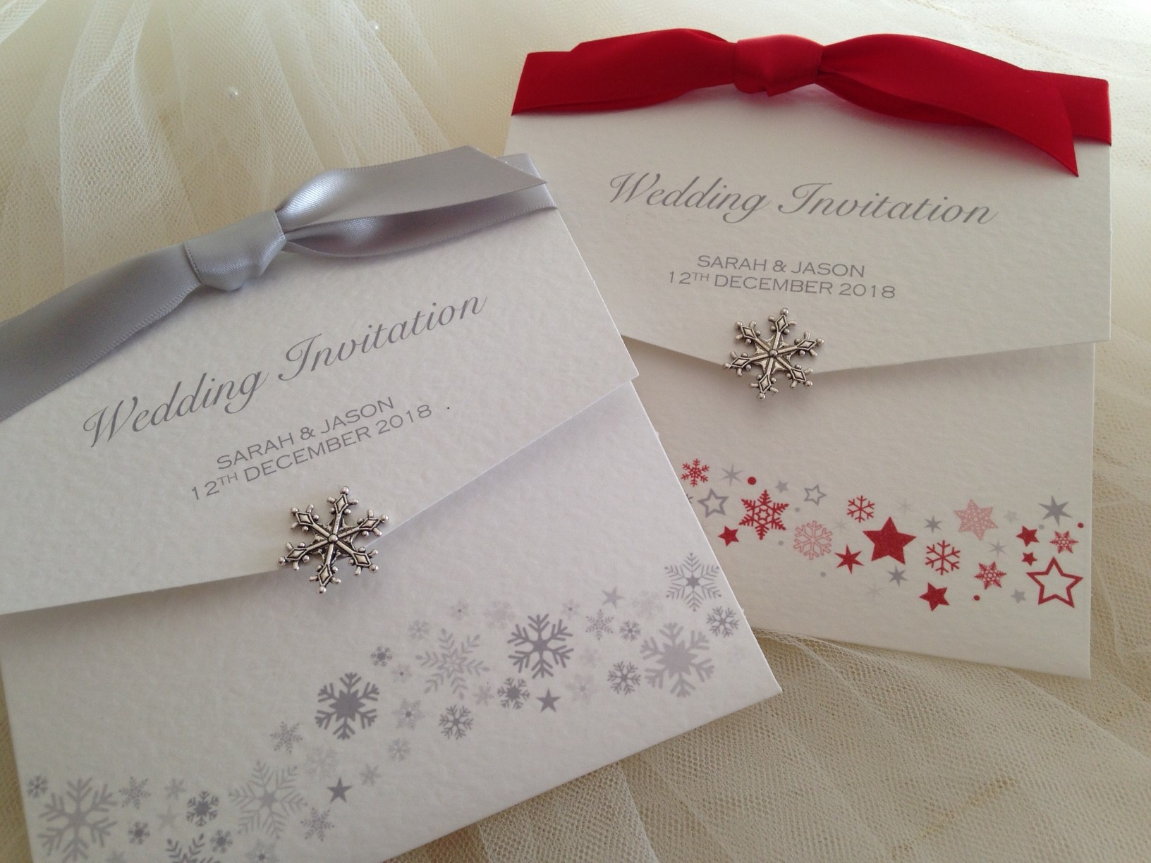 Snowflake Wedding Wallets 11 - Daisy Chain Invites