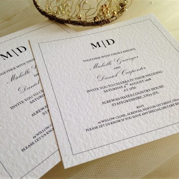 Make your own wedding invitations?