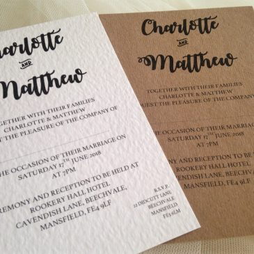 Affordable Personalised Wedding Invitations