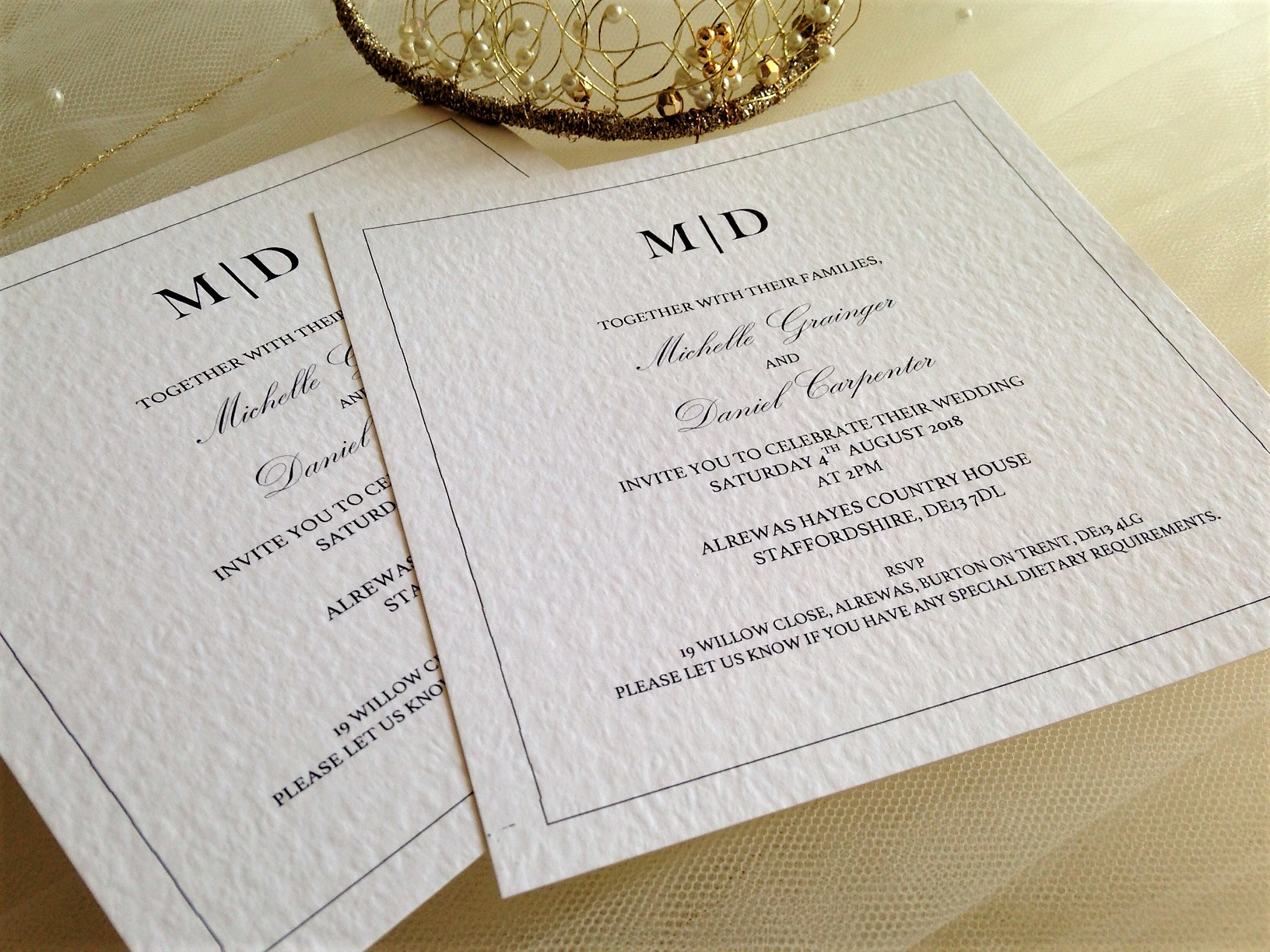 Wedding Invitation Wording - Formal and Informal Wording - Daisy ...