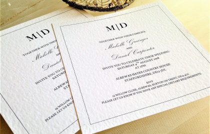 flat square wedding invitation