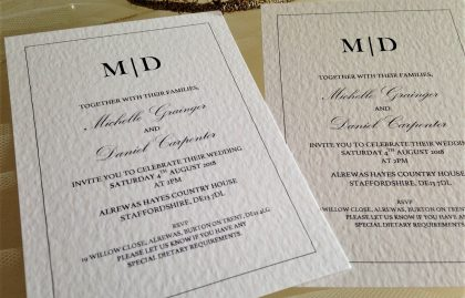 Kent Wedding Invites