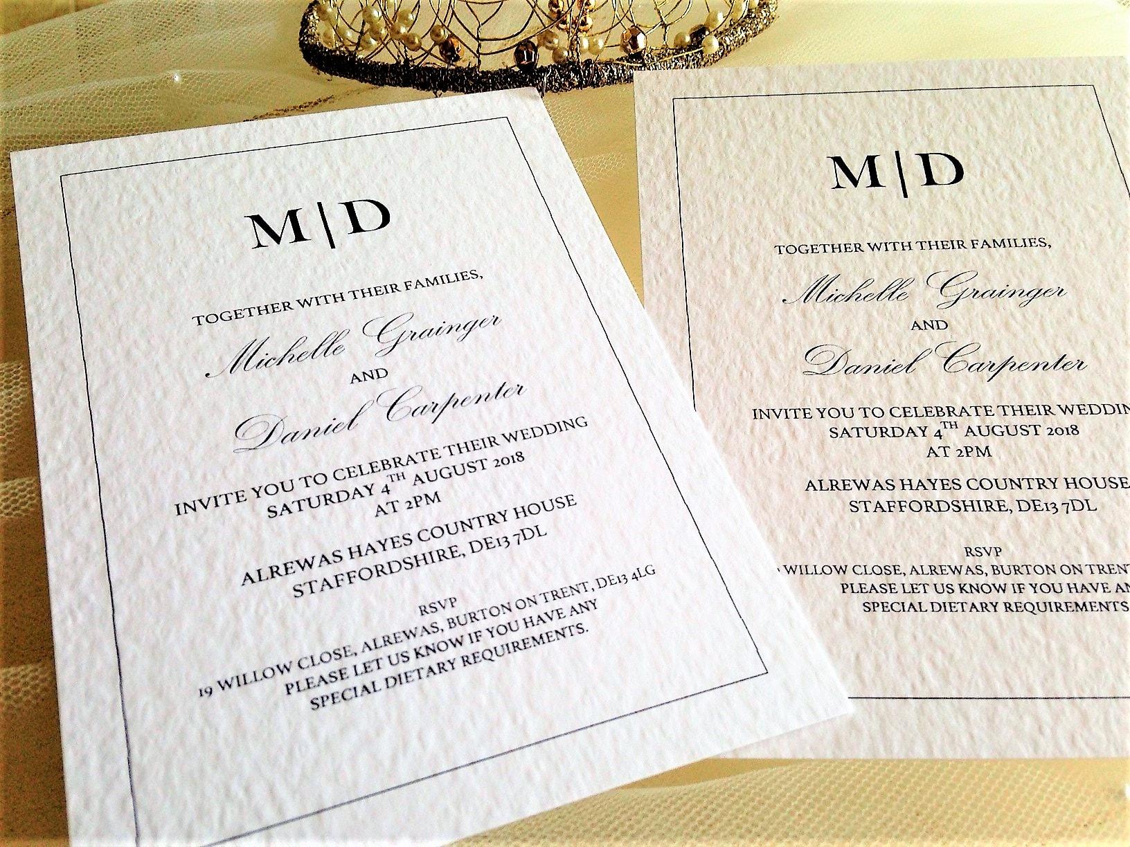 kent wedding invites 80p each  wedding invitations