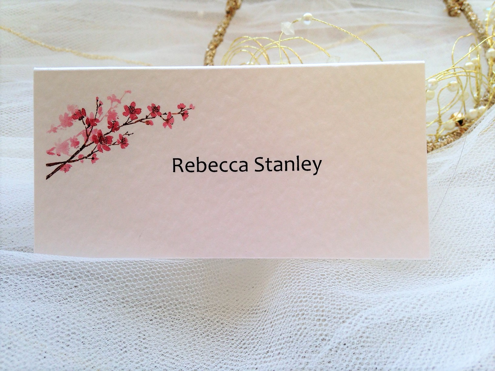 Cherry Blossom Place Cards