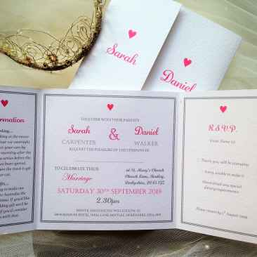 York Wedding Invitations