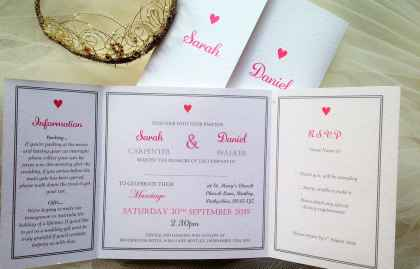 York Wedding Invitations