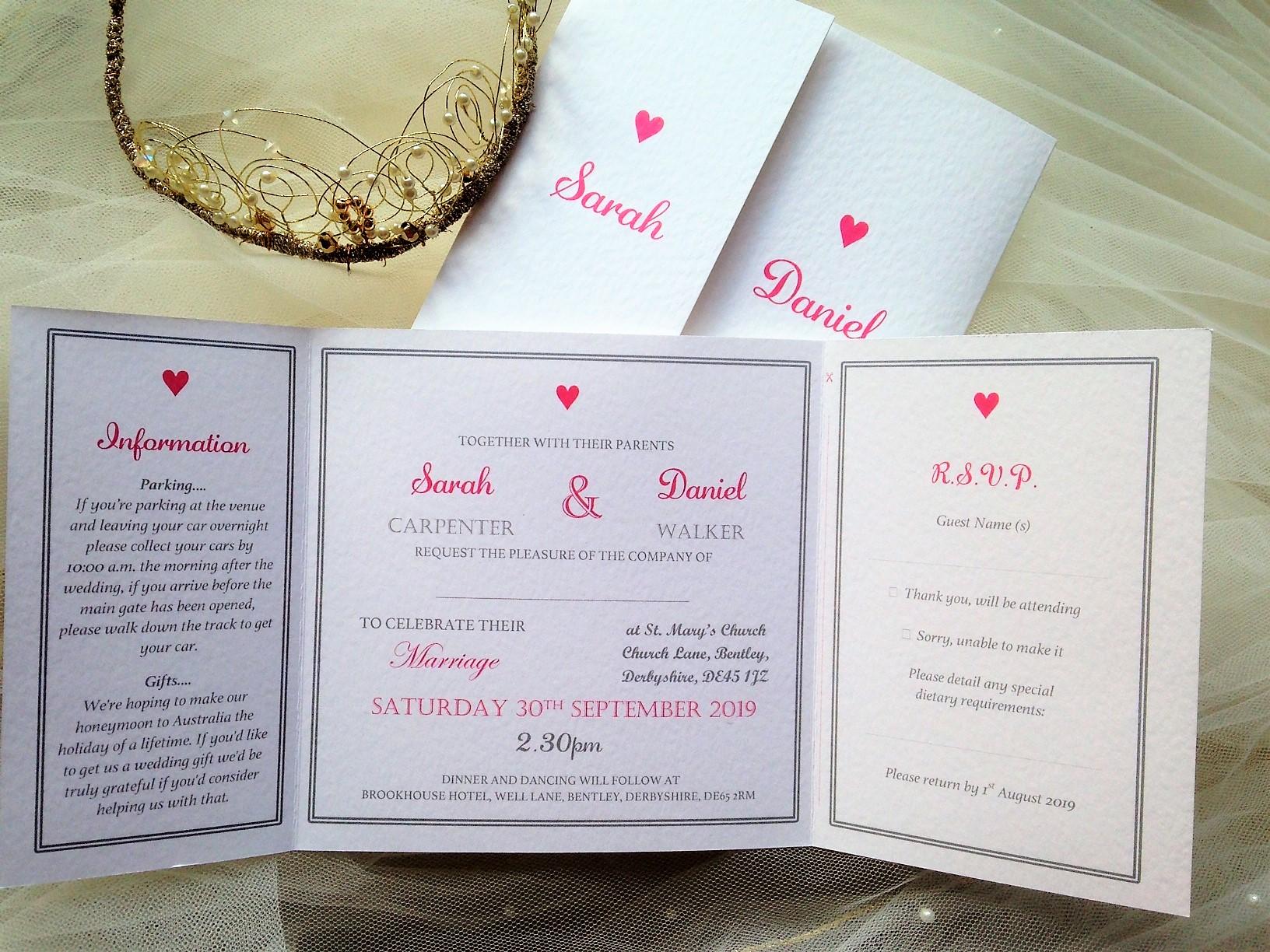 York Wedding Invitations - Daisy Chain Invites