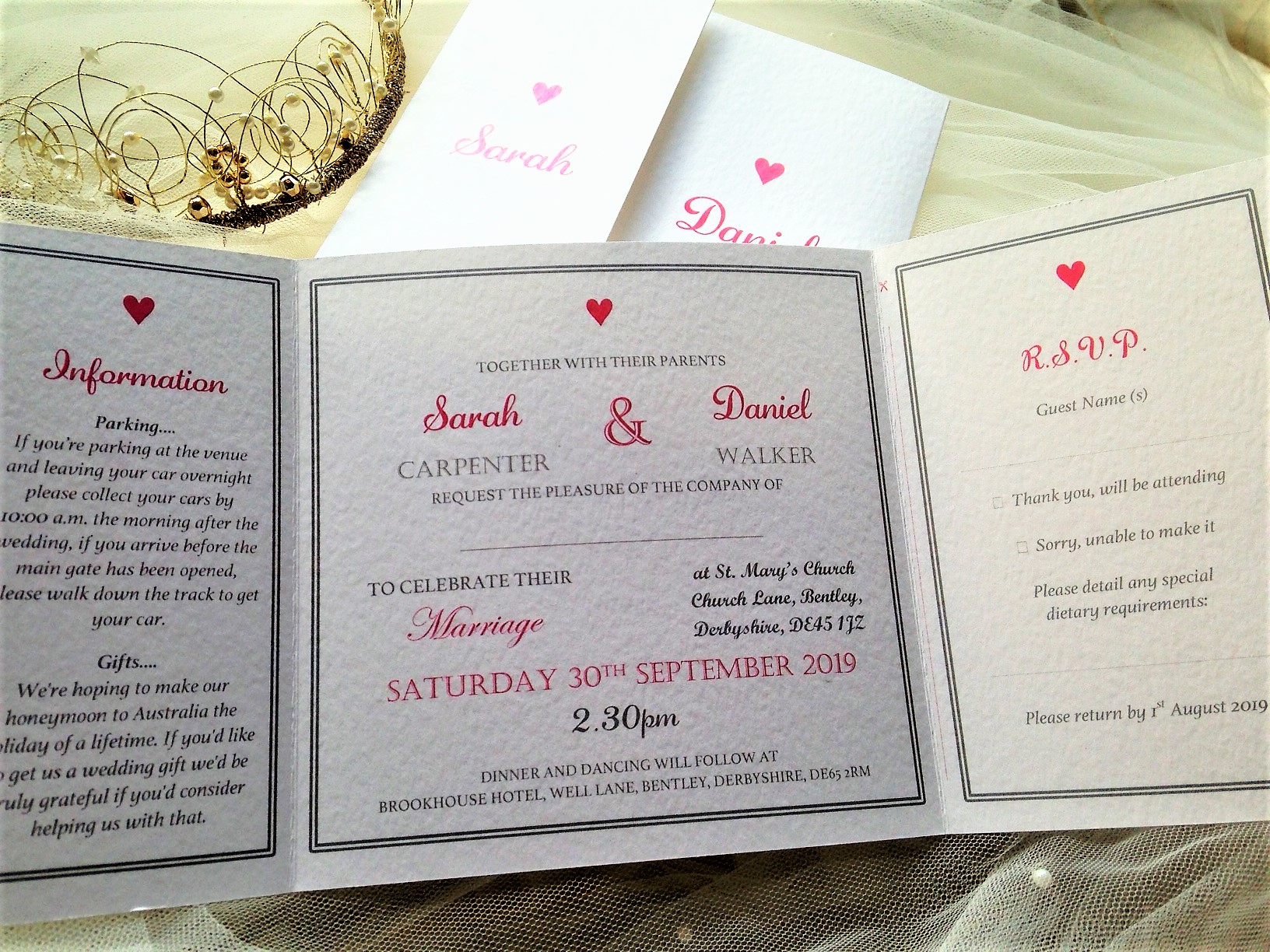 York wedding invites
