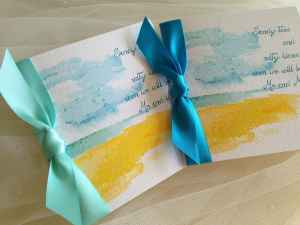 Beach Aqua Green wedding invitations